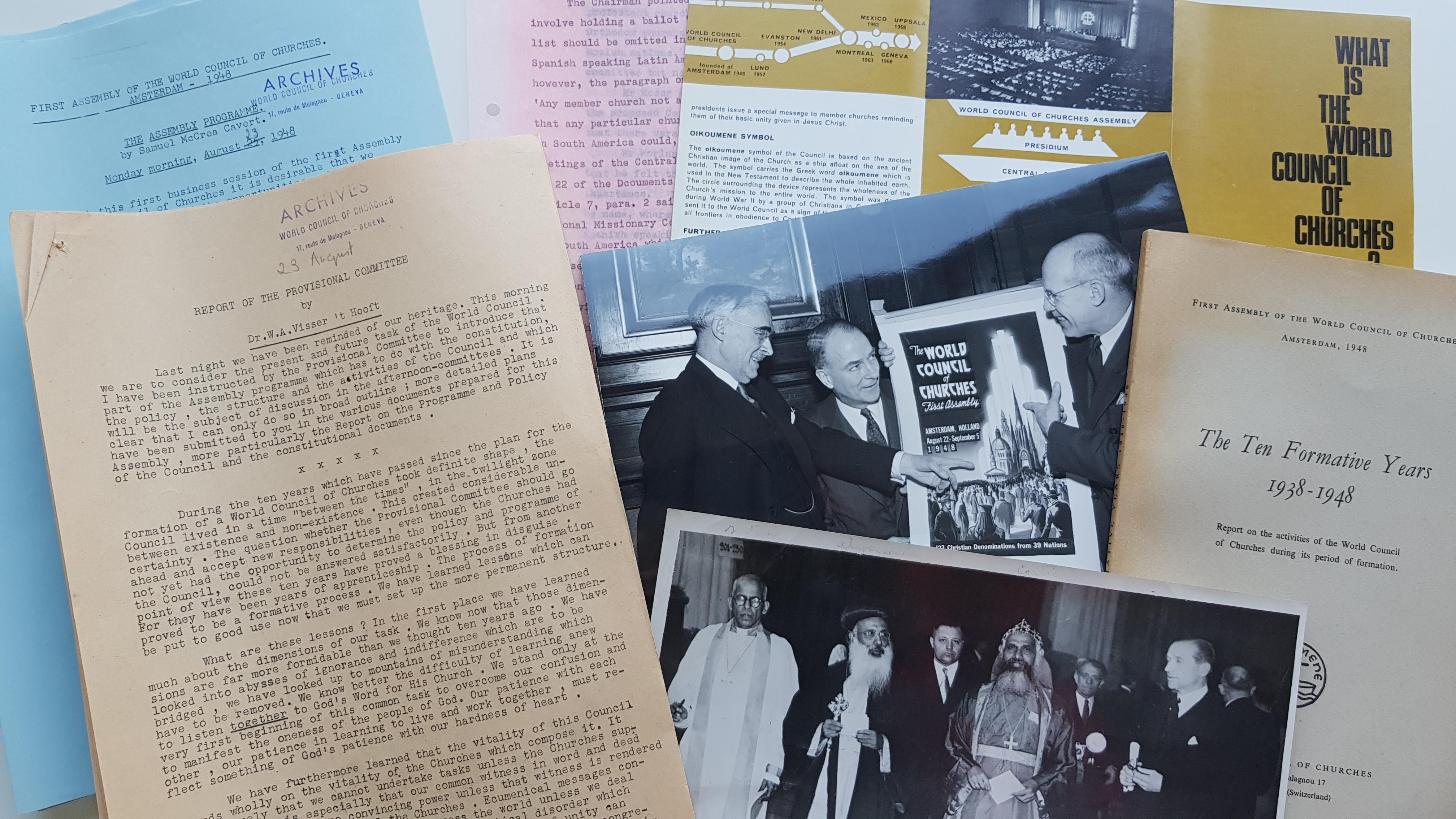 Photo de documents d'archives